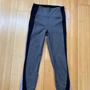 Lululemon black and pink leggings size 4